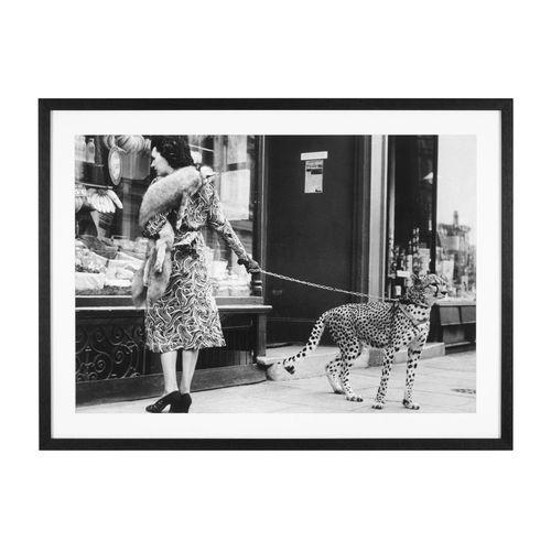Купить Постер Print Elegant Woman with Cheetah в интернет-магазине roooms.ru