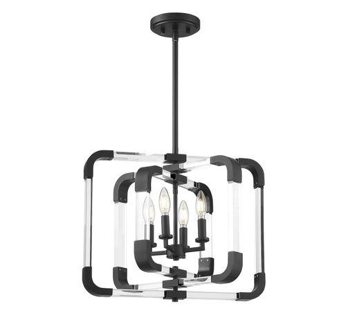 Купить Накладной светильник Rotterdam  Matte Black 4 Light Semi-Flush в интернет-магазине roooms.ru